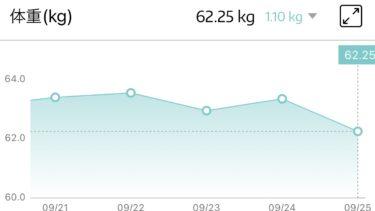 めちゃゆるダイエット継続だいたい1ヶ月~減り方最高値を記録~
